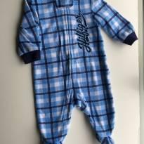 Macacão Tommy Xadrez Azul - 3 meses - Tommy Hilfiger