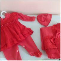 Saída de maternidade para meninas - 0 a 3 meses - DJIELE