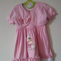 Vestido rosa com bolero! - 9 a 12 meses - Sem marca