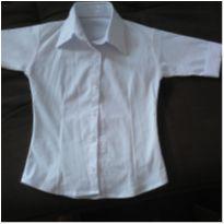 Camisa branca menina - 5 anos - MARCO TEXTIL TEEN E NAO I