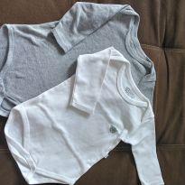 Body manga longa pimpolho. Kit com 2 - 9 a 12 meses - Pimpolho
