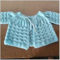 Casaco lã azul - 0 a 3 meses - MARCO TEXTIL TEEN E NAO I