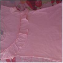 Blusa rosa com babados - 10 anos - Fabricação Nacional