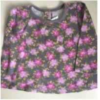 Blusinha manga longa floral - 6 a 9 meses - Gymboree