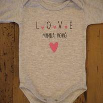 Body Love Minha Vovó - 6 a 9 meses - Clube do Dino