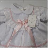 vestido para bebê - 0 a 3 meses - Rociclê