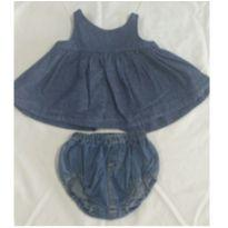 Vestido bata Jeans Baby Gap - Tam 6 a 12 meses - 3 a 6 meses - Baby Gap