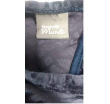 Vestido de festa Brandili Mundi Veludo - tamanho 1 - 1 ano - Brandili