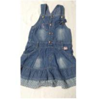 Salopete jeans tamanho 4 - 4 anos - Tocaia Girls