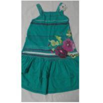 Vestido verde de alcinhas - tamanho 4 - 4 anos - Não informada