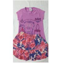 Camiseta tamanho 4 - brinde saia - Tem promoção lá na lojinha - 4 anos - Marco Textil
