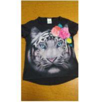 Blusinha tigre Malwee - tamanho 4 - brinde saia - 4 anos - Malwee