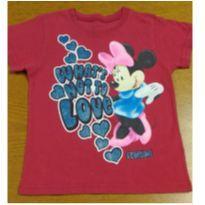 Camiseta vermelha Minie - Corre lá na lojinha tem promoção - 6 anos - Disney