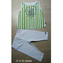 Conjuntinho NOVO Green Menina - 12 a 18 meses - Green