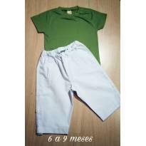 Conjuntinho NOVO Green Menino - 6 a 9 meses - Green