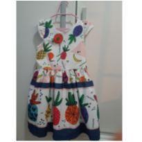 Vestido frutas - 3 anos - Mon Sucré