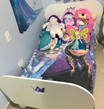Mini Cama princesa laca branca Tok & Stok com colchão (quase sem uso) - Sem faixa etaria - mini cama princ tok&stok