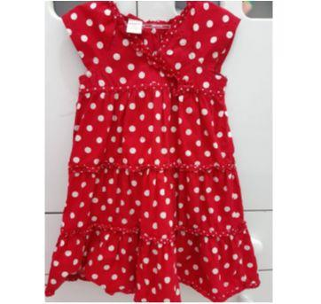 """"""" Vestido vermelho com bolinhas brancas"""" - 3 anos - Gymboree"""