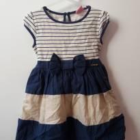 Vestido Navy azul e branco - 2 anos - Momi