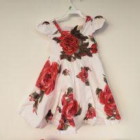 Vestido flores com strass - 3 anos - Luluzinha
