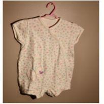 Macaquinho Floral Borboleta - 9 a 12 meses - Boulevard Baby