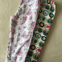 Kit 2 calças floral e corujas - 2 anos - Be Little