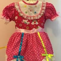 Vestido festa junina Luxo - 1 ano - Nacional
