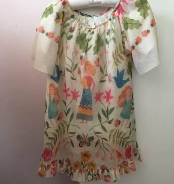 Vestido Eva da Fabula LINDOOO - 12 a 18 meses - Fábula