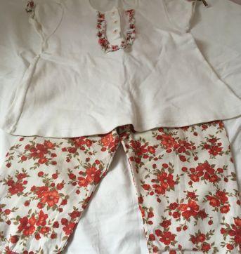 Conjunto floral Salamê Minguê - 2 anos - Salamê Minguê