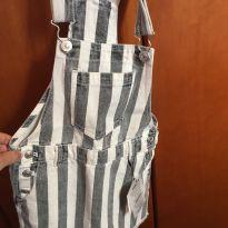 Vestido Jardineira Jeans Novo Zara - 5 anos - Zara