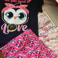 Pijama curto Puket NOVO - 12 anos - Puket