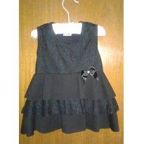 vestido preto com renda - 18 meses - anexo