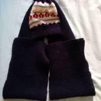 Touca de frio com cachecol - 12 a 18 meses - Não informada