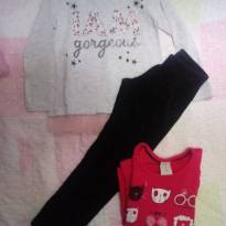 Camisetas de manga longa e calça - 3 anos - Baby Club