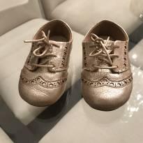 Sapato oxford dourado Capodarte infantil tamanho 21 - 21 - Capodarte
