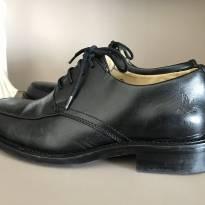 Sapato social Brooksfield preto tamanho 33 couro legítimo - 33 - Brooksfield Júnior