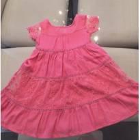 Vestido Rosa Poim com Renda tamanho 2 anos - 2 anos - Renner