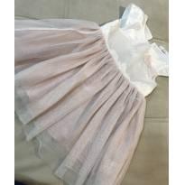 Vestido H&M Branco e Rosa tamanho 2-3 anos - 2 anos - H&M