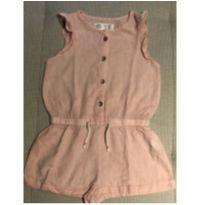 Macacão curto linho rosa Zara 2-3 anos - 24 a 36 meses - Zara