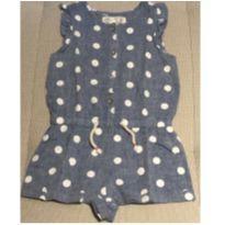 Macacão curto linho jeans Zara 2-3 anos - 24 a 36 meses - Zara
