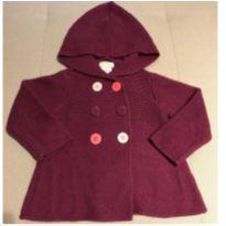 Casaco tricô com capuz roxo First Impressions 12 meses - 1 ano - First Impressions