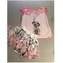 Conjunto blusa e saia Alo bebê 1 ano - 1 ano - Alô bebê