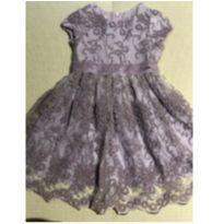 Vestido de Festa renda lilás Um Mais Um 2 anos - 2 anos - Um mais um