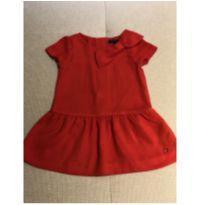 Vestido crepe vermelho Tommy Hilfiger 18 meses - 18 meses - Tommy Hilfiger
