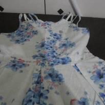 vestido com flores azul - 14 anos - Carinhoso