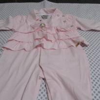 macacão  rosa lindo - 0 a 3 meses - Aconchego do Bebê