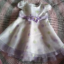 Vestido de festa laço lilas importado - 12 a 18 meses - Não informada