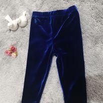 Calça Veludo Brilho - Azul - 1 ano - Ralph Lauren