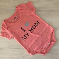 BODY I LOVE MY MOM SALMON 0-3M REF 001 - 0 a 3 meses - marisa