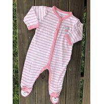 Macacão carters listrado rosa macaquinha 6M Ref 113 - 6 meses - Carter`s